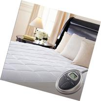 Sunbeam Premium Luxury Quilted Heated Electric Mattress Pad