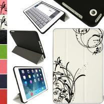 iGadgitz Luxury White & Black PU Leather Smart Cover Case