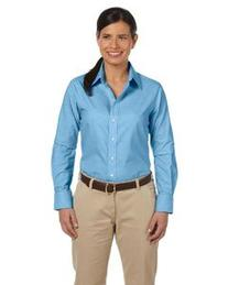 Harriton Ladies Long Sleeve Oxford w/Stain Release - Light