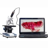 AmScope 40X-2500X LED Digital Monocular Compound Microscope