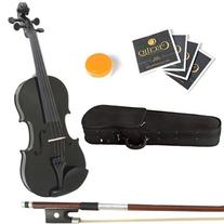 Mendini 16-Inch MA-Black Solid Wood Viola with Case, Bow,