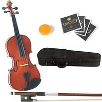 15-Inch MA250 Natural Varnish Solid Wood Viola with Case,