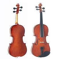 Mendini 14-Inch MA250 Natural Varnish Solid Wood Viola with