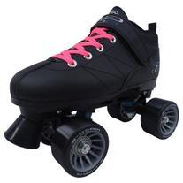 Pacer Mach-5 Black Pink Speed Skates - Mach5 GTX500 Quad