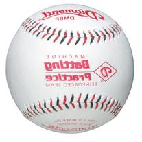 Diamond Machine Batting Practice Baseball with Flat Seams
