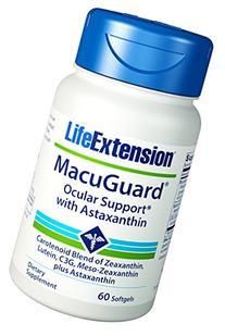 Life Extension Macuguard Ocular Support Plus Astaxanthin, 60