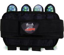 Maddog Sports Pro 4+3 Paintball Harness Pod Pack - Black