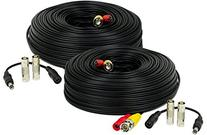 Amcrest 2-Pack 150 Feet Pre-Made All-in-One Siamese BNC