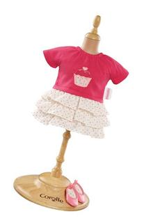 "Corolle Mademoiselle 14"" Ruffle Dress and Shoes"