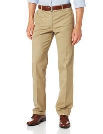 IZOD Men's Madison Slim Fit Pant, Sun Khaki, 33W x 32L