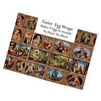 Set of 7 Madonna With Baby Jesus Instant Easter Egg Wraps