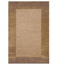 2' x 4' Madrid Banded Rectangular Hearth Rug, Chocolate