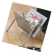 Magazine Rack in Silver Finish
