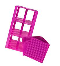 "Premium Magenta Stackable Base Plates - 10 Pack 6"" x 6"""