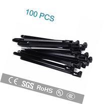 "Magic&Shell 100pcs 8""L 0.3""W Releasable/Reusable Nylon Cable"