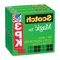 """Scotch Magic Tape Refill, 1/2"""" X 1296"""", 3/Pack, Case of 2"""