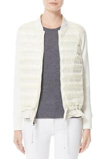 Women's Moncler Maglia Quilted Down Front Tricot Bomber,