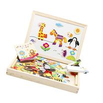 Lewo Wooden Educational Toys Magnetic Art Easel Animals