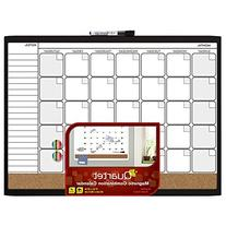 Quartet Magnetic Combination Calendar Board, 17 x 23 Inches