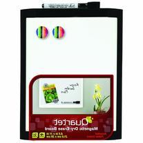 Quartet Magnetic Dry-Erase Board, 8 1/2 x 11 Inches, Black