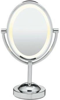 1x/7x Magnification Double-Sided Lighted Oval Mirror
