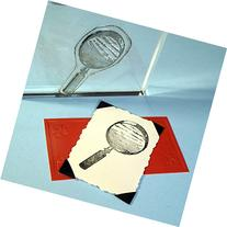 "Magnifying Glass Stamp, clear polymer cling 2.25""x1.5"","