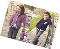King Cole Magnum Chunky Knitting Pattern Childrens Collar or