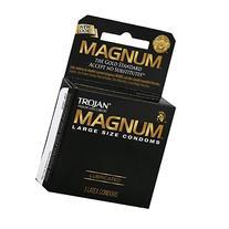 TROJAN MAGNUM Condoms Large Lubricated Latex 3 Each
