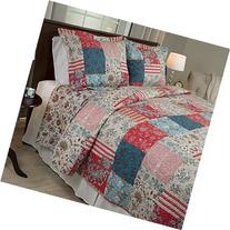 Lavish Home 3 Piece Mallory Quilt Set, King