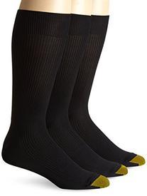Gold Toe Men's Manhattan Sock, 3 Pack, Black