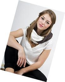 "Mania Breastfeeding scarf ""White Coffee"" with small pocket"