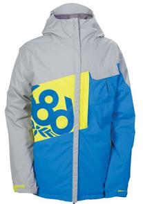 686 Mannual Iconic Insulated Boys Jacket Grey Colorblock XS