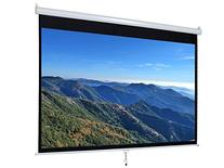 """100"""" Manual Projection Screen Pull-Down Projector 16:9 Home"""