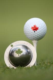 Tin Cup Maple Leaf Golf Ball Custom Marker Alignment Tool