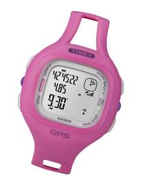 Timex Women's T5K698 Marathon GPS Speed+Distance Pink Resin