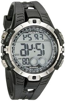 Marathon by Timex Men's Digital Full-Size Black and Grey