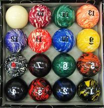 Iszy Billiards Marble/Swirl Pool Table Ball Set