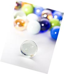 POPLAY Marbles, Set of 15, 1-inch,Random Color