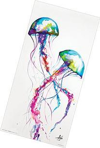 Marc Allante Jellyfish Modern Contemporary Animal Decorative