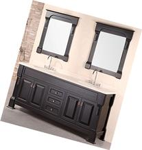 Design Element Marcos Double Sink Vanity Set wih Crème