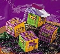 Mardi Gras Party Favor Miniature Boxes - 24 pcs