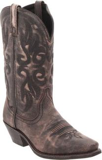 Laredo Women's Maricopa Boot,Black/Tan Crackle Goat,8 B  US