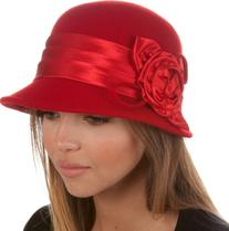 EH1121LC - Womens Vintage Style 100% Wool Cloche Bucket