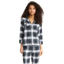 Sleepy Jones Marina Plaid Pajama Shirt