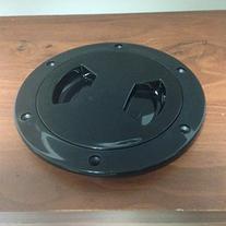"""MARINE BOAT BLACK PLASTIC DECK PLATE 4""""D WATERPROOF"""