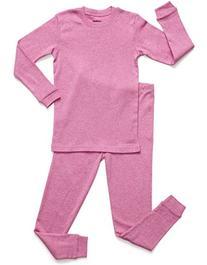 Leveret Marled Pink 2 Piece Pajama 8 Years