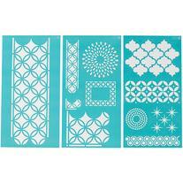 """Martha Stewart Large Stencils 3 Sheets/pkg, Arabesque 8-3/4"""""""