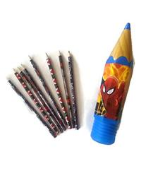Marvel Ultimate Spiderman Pencil Case with 8 Spider-man