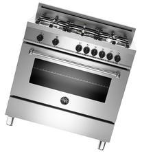 "Bertazzoni Master Series 36"" Stainless Steel Dual Fuel Range"
