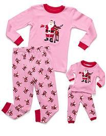 Leveret Matching Doll & Kid Christmas 2 Piece Pajama 6 Year